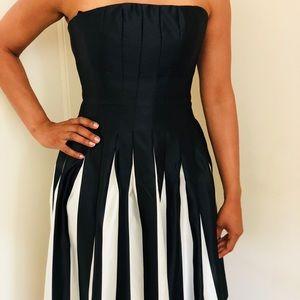 BCBG Dresses - Black and white striped dress